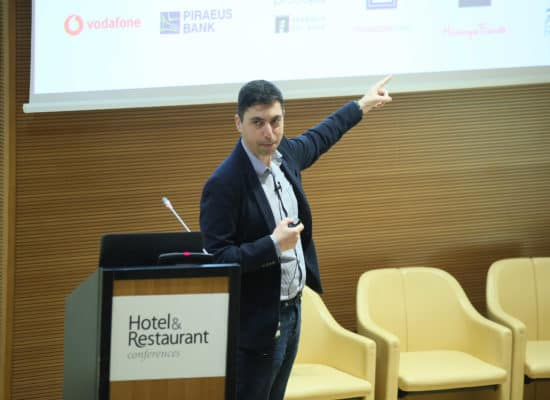Panos Ladas presenting on SEO & Social Media at the Social Media Tourism Conference 2019
