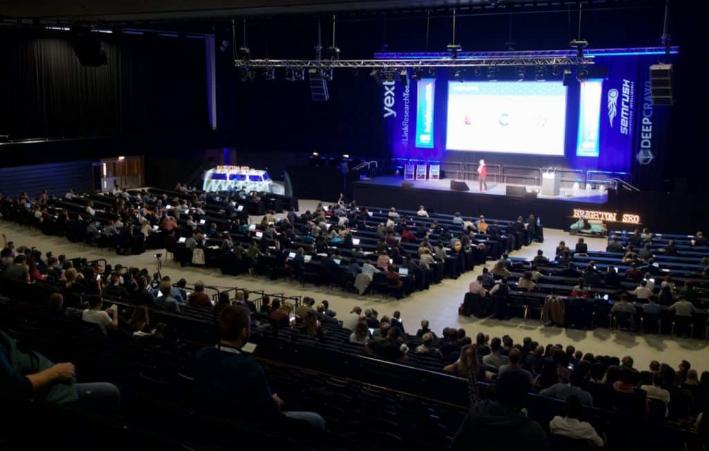 Image of BrightonSEO main stage
