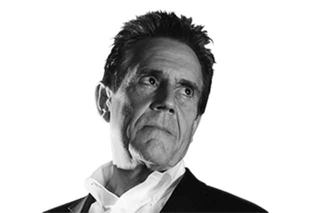 Black and white photo of Dave Trott